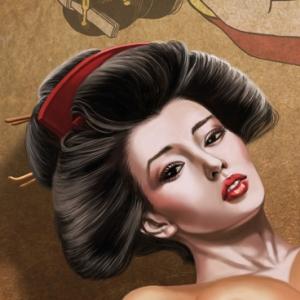 New Geisha Hustler pinup