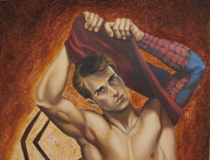 Spiderman closeup