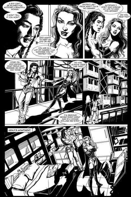 Gothic Geisha #3 Comic pg 19 by Sandra Chang-Adair