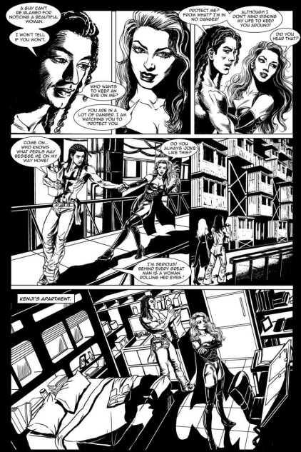 Gothic Geisha #3 Comic pg 19 by Sandra Chang-Adair