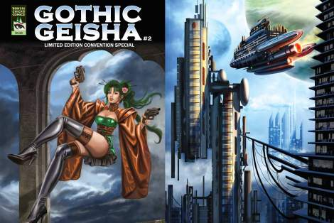Gothic Geisha #2 Front and Back Cover by Sandra Chang-Adair