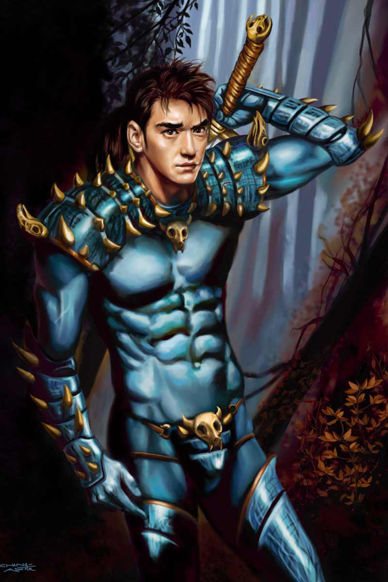 Rebel Vampire Hunter by Sandra Chang-Adair features handsome Asian Movie star, Takeshi Kaneshiro, as a warrior.