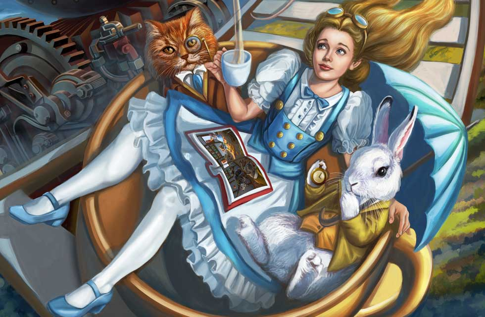 Sandra Chang-Adair's Steampunk Alice in Wonderland Rollercoaster is another whimsical take on Alice in Wonderland.